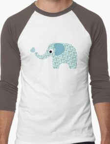 Elephant Seamless background Men's Baseball ¾ T-Shirt