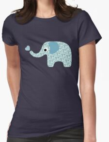 Elephant Seamless background Womens Fitted T-Shirt