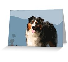 Australian Shepherd Greeting Card