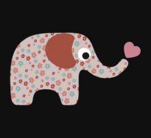 Elephant Seamless background One Piece - Short Sleeve