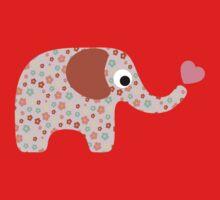 Elephant Seamless background Baby Tee