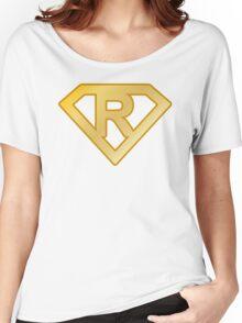 Golden superman letter Women's Relaxed Fit T-Shirt