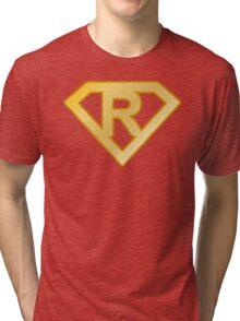 Golden superman letter Tri-blend T-Shirt