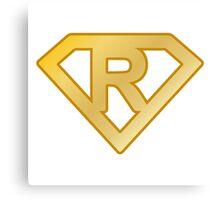 Golden superman letter Canvas Print