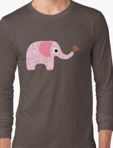 Elephant Seamless background Long Sleeve T-Shirt