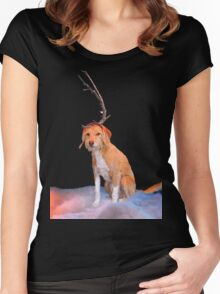 Max Cartoon Style  Women's Fitted Scoop T-Shirt