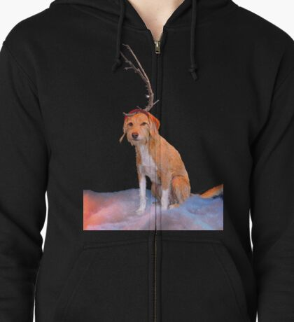 Max Cartoon Style  Zipped Hoodie