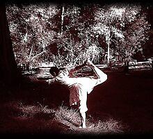 Yoga in the redwoods by Debra Kurs