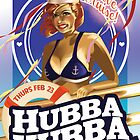 Poster for Hubba Hubba Revue, February 2012 by caseycastille
