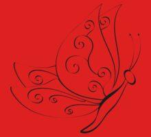Spiral butterfly One Piece - Short Sleeve