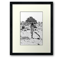 Girl In The Desert with Scarf Framed Print