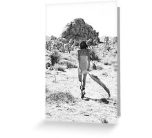 Girl In The Desert with Scarf Greeting Card