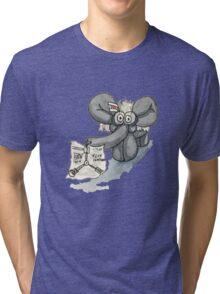 Doc Elephant Brown Tri-blend T-Shirt