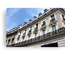 Cartier, Champs Elysées Canvas Print