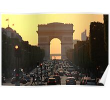 Champs Elysées - The most famous street in Paris Poster
