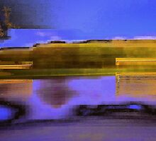 Landscape corrupted by abstract elements by Vasile Stan