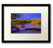 Landscape corrupted by abstract elements Framed Print