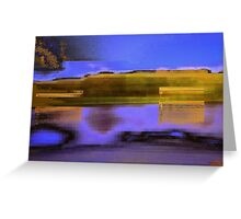 Landscape corrupted by abstract elements Greeting Card