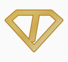 Golden superman letter Kids Clothes