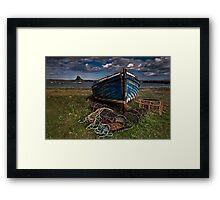 Moody Skies over Lindisfarne Framed Print