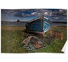 Moody Skies over Lindisfarne Poster