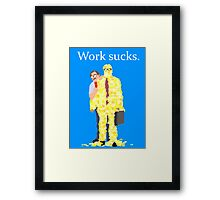 Minimalist movie poster: Office Space Framed Print