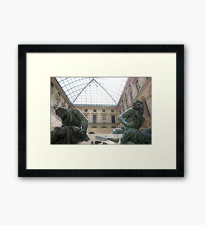 The Lourve - Sculptures Framed Print