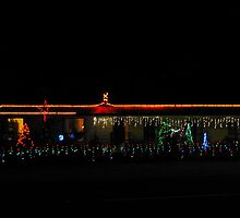 Christmas Lights at a home in Birdwood, Adelaide Hills. by Rita Blom