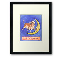 The Cow Jumped Framed Print