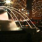 Christmas Fountain Nightlife by Stuart Steele
