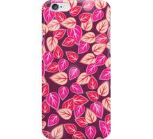 Dark Pink Floral Pattern iPhone Case iPhone Case/Skin