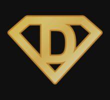 Golden superman letter Kids Clothes
