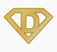 Golden superman letter Kids Tee