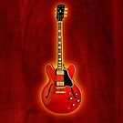 Red gibson es 335 v2 iPhone Case by goodmusic