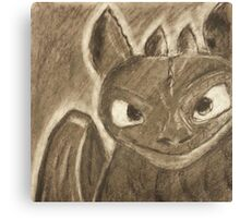 Toothless Charcoal Canvas Print