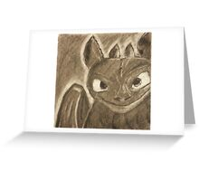 Toothless Charcoal Greeting Card
