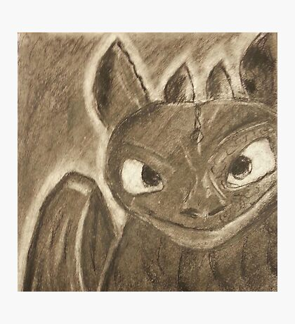 Toothless Charcoal Photographic Print