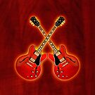 Double red gibson es 335 v2 ipad Case by goodmusic