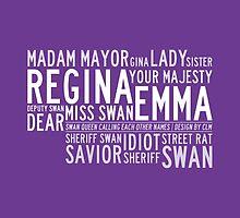Swan Queen Nicknames (purple) by CLMdesign