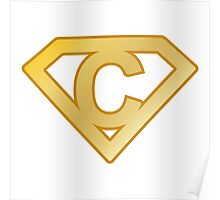 Golden superman letter Poster