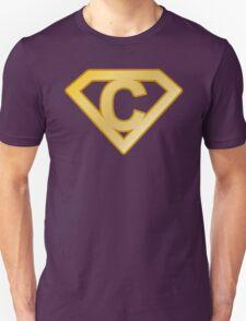 Golden superman letter T-Shirt