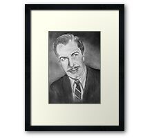 Vincent Price....young Framed Print