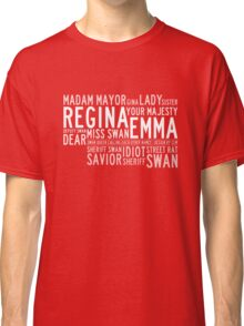 Swan Queen Nicknames (red) Classic T-Shirt