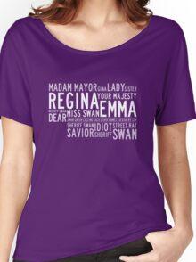 Swan Queen Nicknames (red) Women's Relaxed Fit T-Shirt