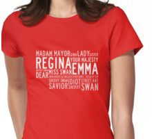 Swan Queen Nicknames (red) Womens Fitted T-Shirt