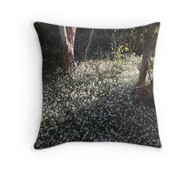 corner of the garden Throw Pillow