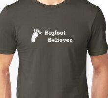 Bigfoot Believer (white text) Unisex T-Shirt