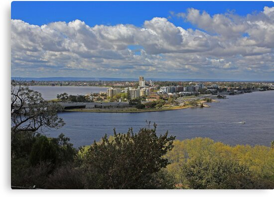 Como & S Perth from King's Park by Tony Brown