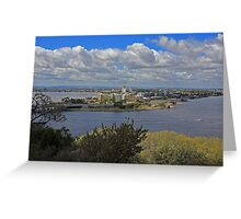 Como & S Perth from King's Park Greeting Card