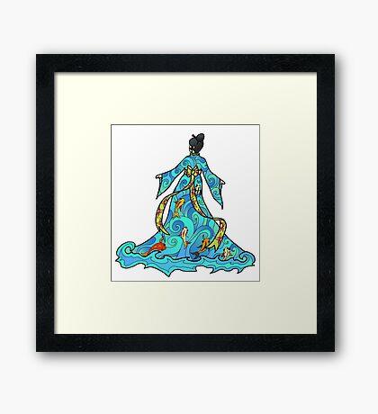 koi Dress Framed Print